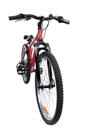 object on white - new bicycle close up Stock Photo