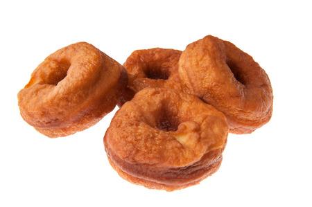 Fried doughnut isolated on white background