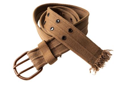 trouser cloth belt isolated on white background Reklamní fotografie