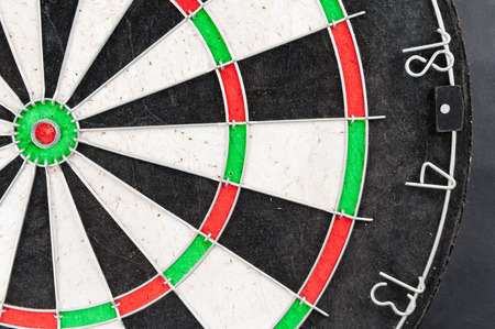classic dartboard color target with wire separated cells