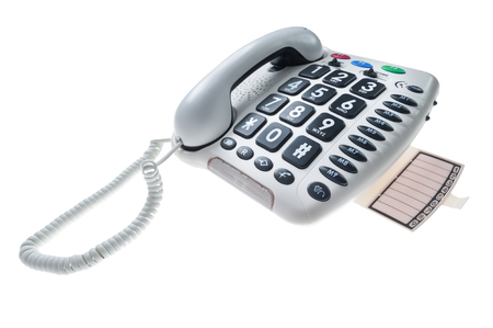 special stationary phone for people with visual and hearing impairment Stock Photo