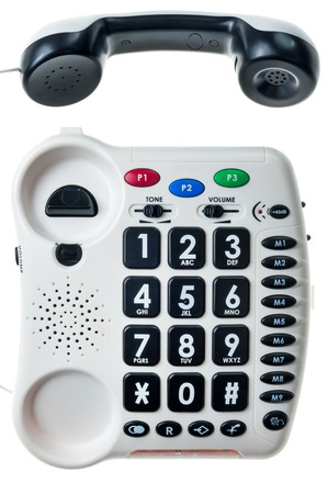 special stationary phone for people with visual and hearing impairment Reklamní fotografie