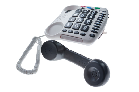 special stationary phone for people with visual and hearing impairment 写真素材