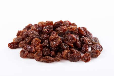 sultana: Heap of sultana raisins on white  Stock Photo