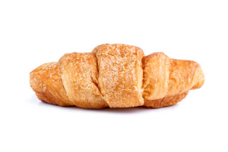 bap: Delicious croissant on a white background.