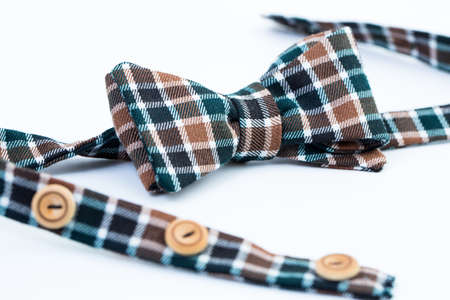 mans: Beautiful mans bow tie isolated on white background. Stock Photo