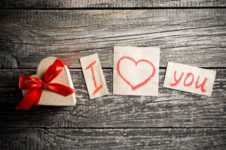 declaration: Declaration of love and a gift on valentines day.