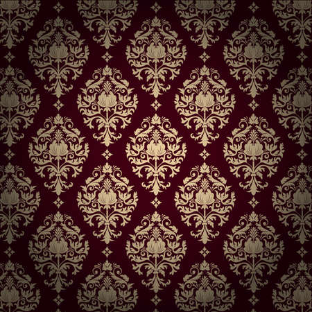Vector damask pattern background Vector