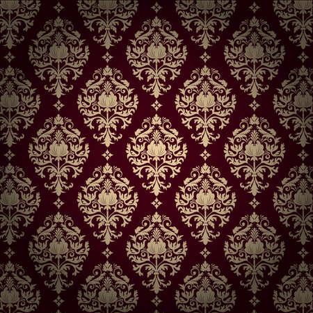 foliate: Vector damask pattern background