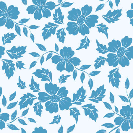 wallpaper wall: Vector flower pattern element