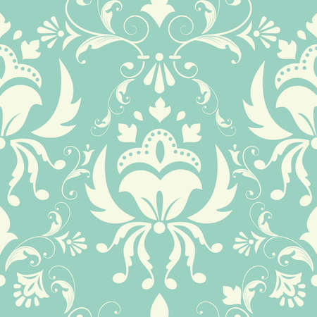 Vector damask pattern element  Stock Vector - 15106273