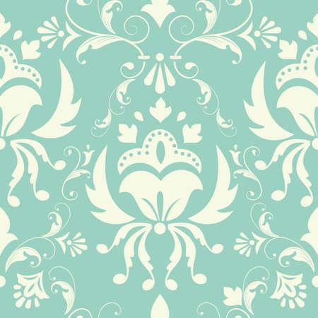 Vector damask pattern element