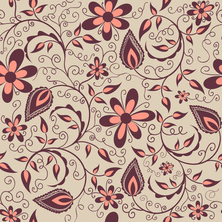 Vector flower pattern element