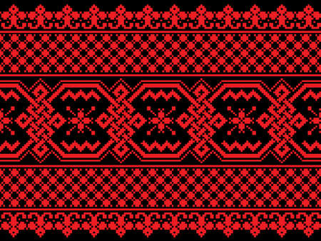 lappet: Vector illustration of folk seamless pattern ornament