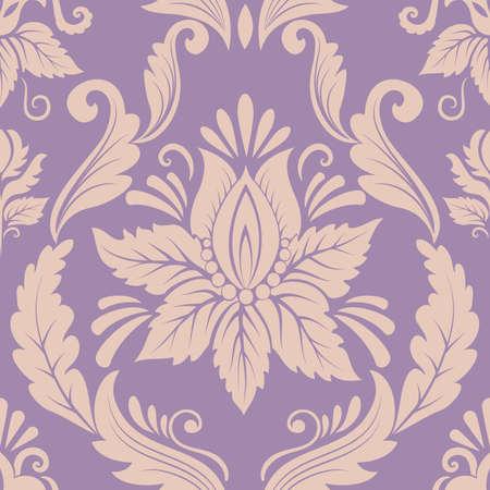 damask pattern: Vector damask seamless pattern element Illustration