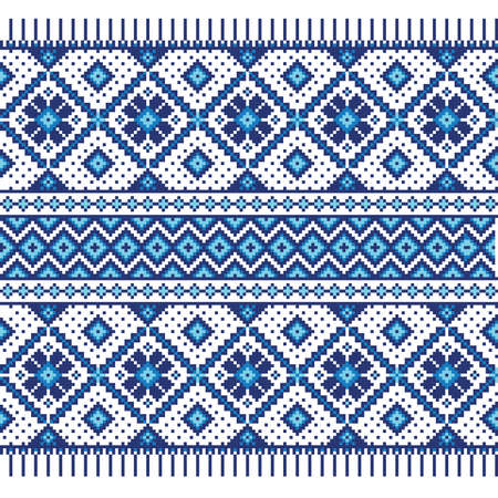 Ilustración vectorial de ornamento ucraniano patrón transparente Ilustración de vector
