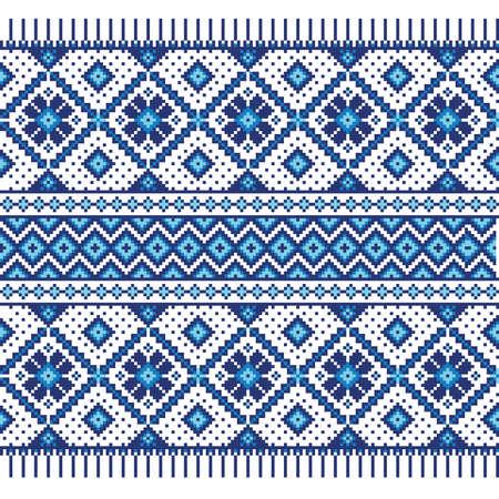 Vector illustratie van Oekraïens naadloze patroon ornament Stock Illustratie