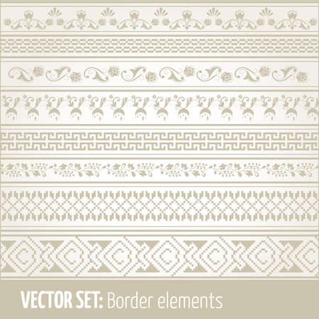 Vector set of border elements and page decoration Set  2
