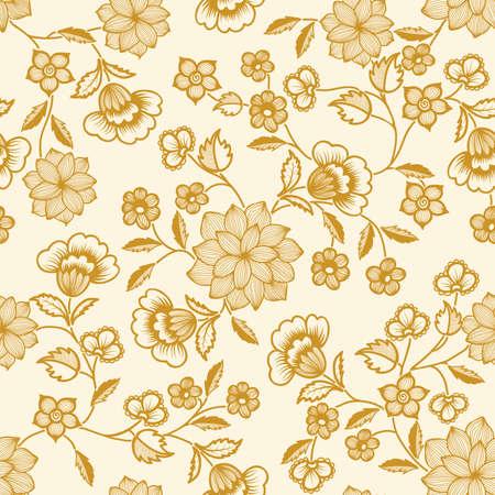 Vector bloempatroon element Stock Illustratie