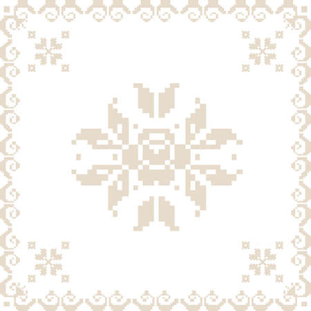 ukraine folk: Vector illustration of ukrainian seamless pattern ornament element
