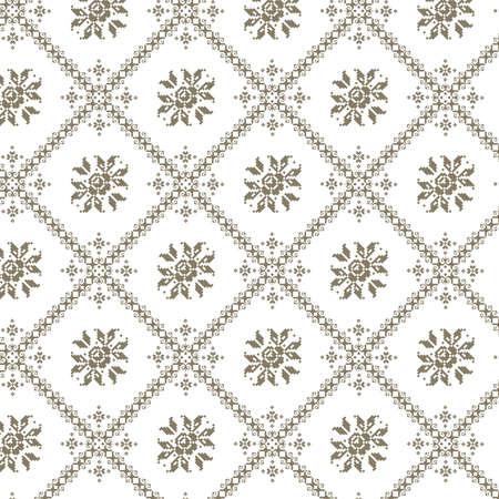 Vector illustratie van Oekraïens naadloze patroon ornament achtergrond