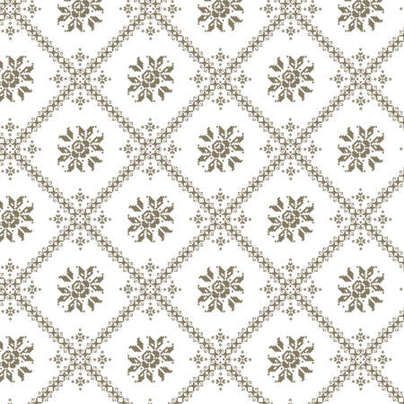 Vector illustration of ukrainian seamless pattern ornament background Vector