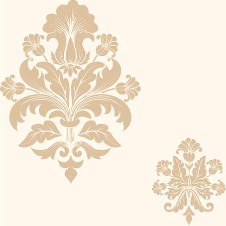 Vector damask seamless pattern element Vettoriali