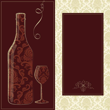Vector wine card Vector