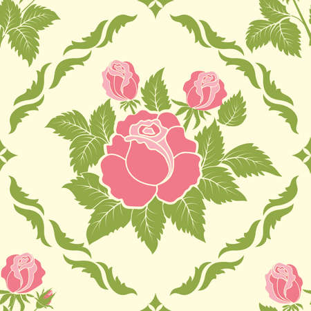 Vector bloem damastpatroon element Stock Illustratie