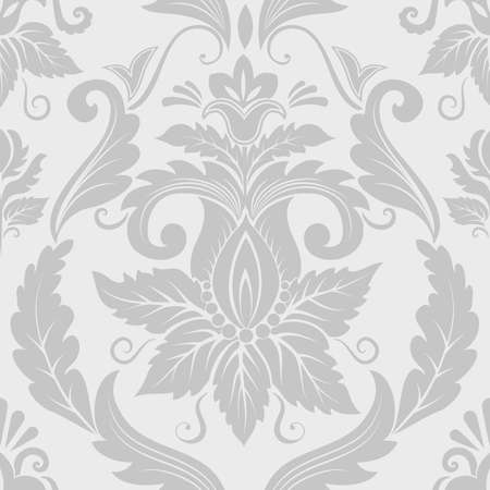 barok ornament: Vector damast naadloze patroon element