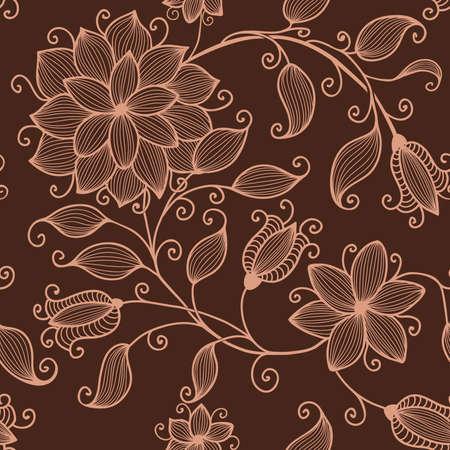 Vector flower seamless pattern element