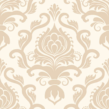 Vector damask seamless pattern element Иллюстрация