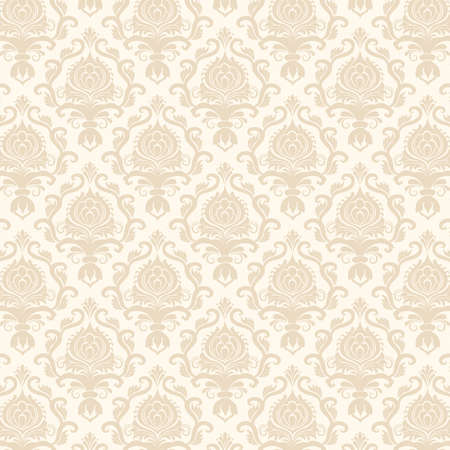 vintage wallpaper: Vector damask seamless pattern background Illustration