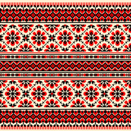 cross stitch: Ilustraci�n vectorial de ornamento ucraniano