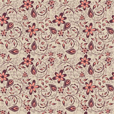 Vector bloem naadloze patroon achtergrond