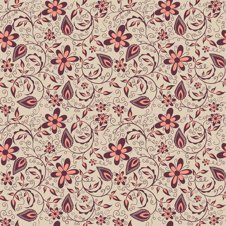 Vector flower seamless pattern background