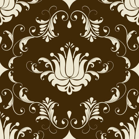 Vector damask seamless pattern element Stock Vector - 16161877