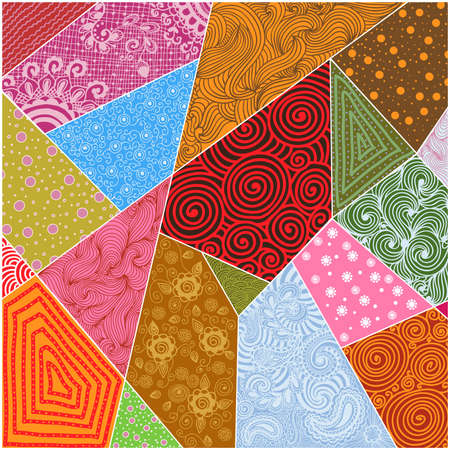 Vector abstract patchwork background