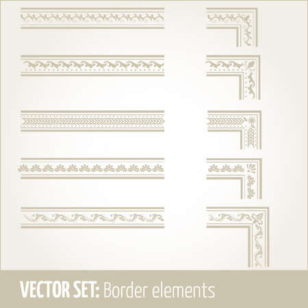 Vector set of border elements and page decoration Part 1