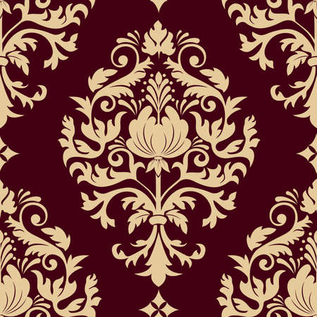 Vector damask seamless pattern element