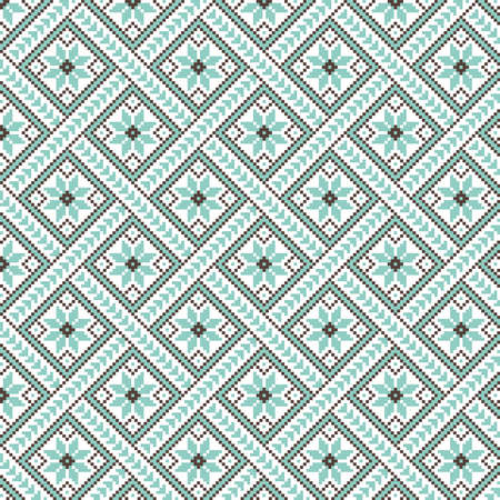 lappet: Vector illustration of ukrainian pattern ornament Illustration