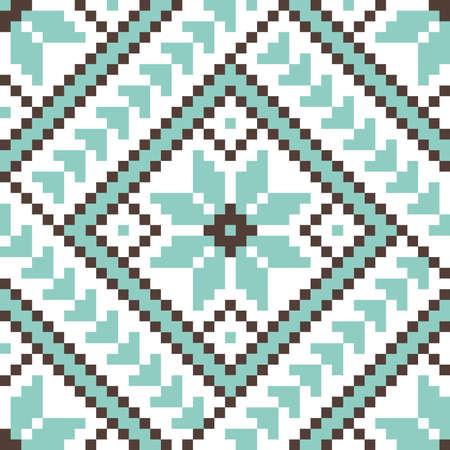 punto cruz: Ilustración vectorial de un elemento ucraniano ornamento