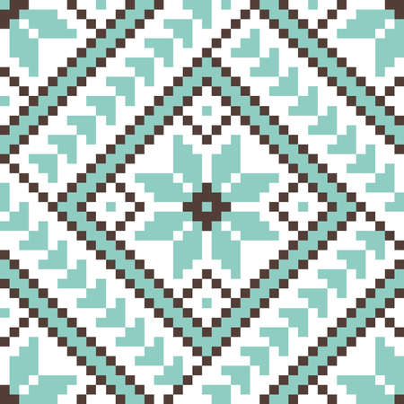 Vector illustration of ukrainian pattern ornament element
