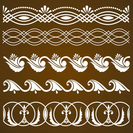Vector set of vintage calligraphic ornaments