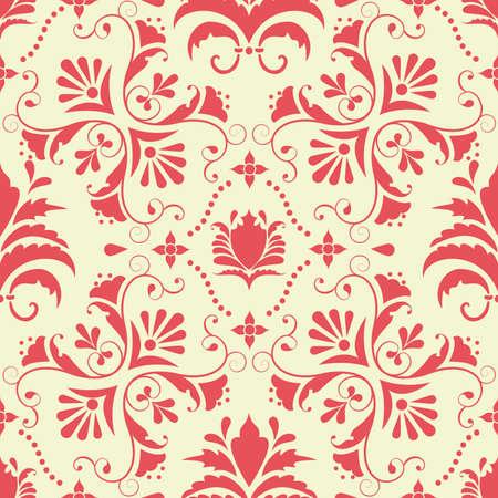 Vector damask seamless pattern element Illustration