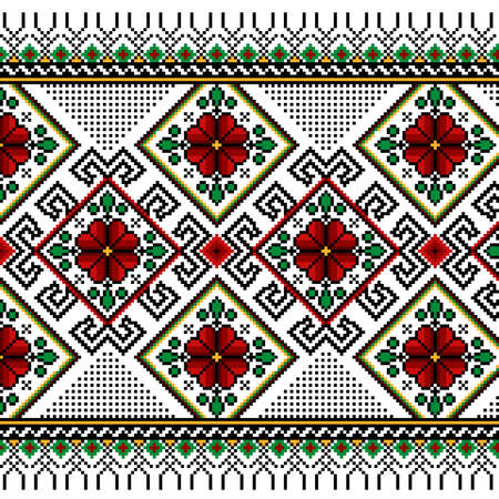 Vector illustration of ukrainian seamless pattern ornament