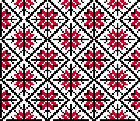 criss cross: Vector illustration of ukrainian national seamless pattern ornament