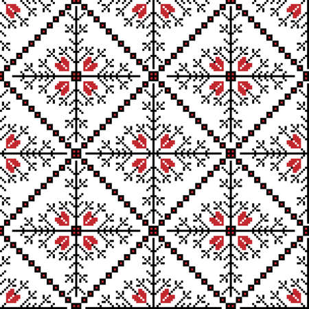 ukraine folk: Vector illustration of ukrainian national seamless pattern ornament