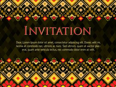 criss cross: Vector invitation card with pattern