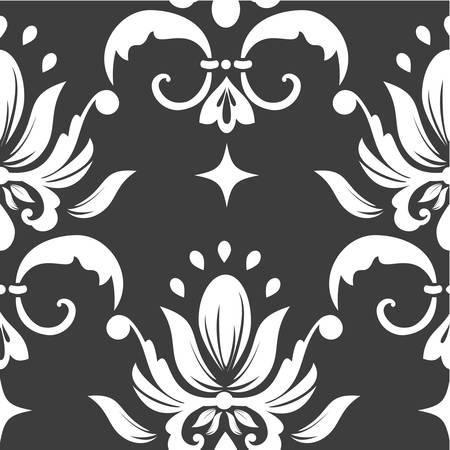 floral carpet: Vector damask seamless pattern element